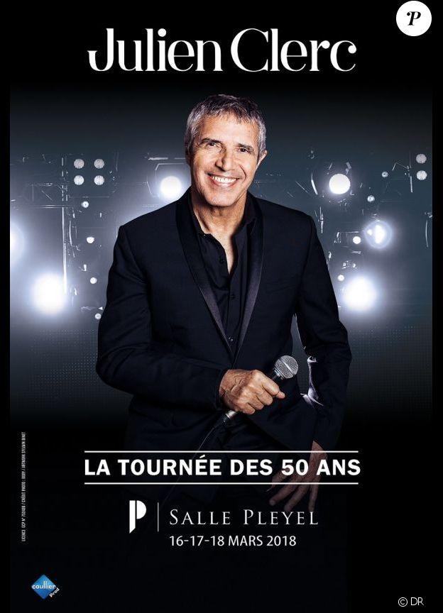 Julien Clerc, La Tournée des cinquante ans à partir du 23 novembre 2017.