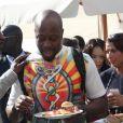 Exclusif - Le chanteur Akon, cofondateur de l'association Akon Lighting Africa et Wyclef Jean (fondateur du Clean Street Project) - Global Citizen Forum 2017 à Sveti Stefan au Montenegro le 20 octobre 2017. © Didier Audebert/ LMS/ Bestimage