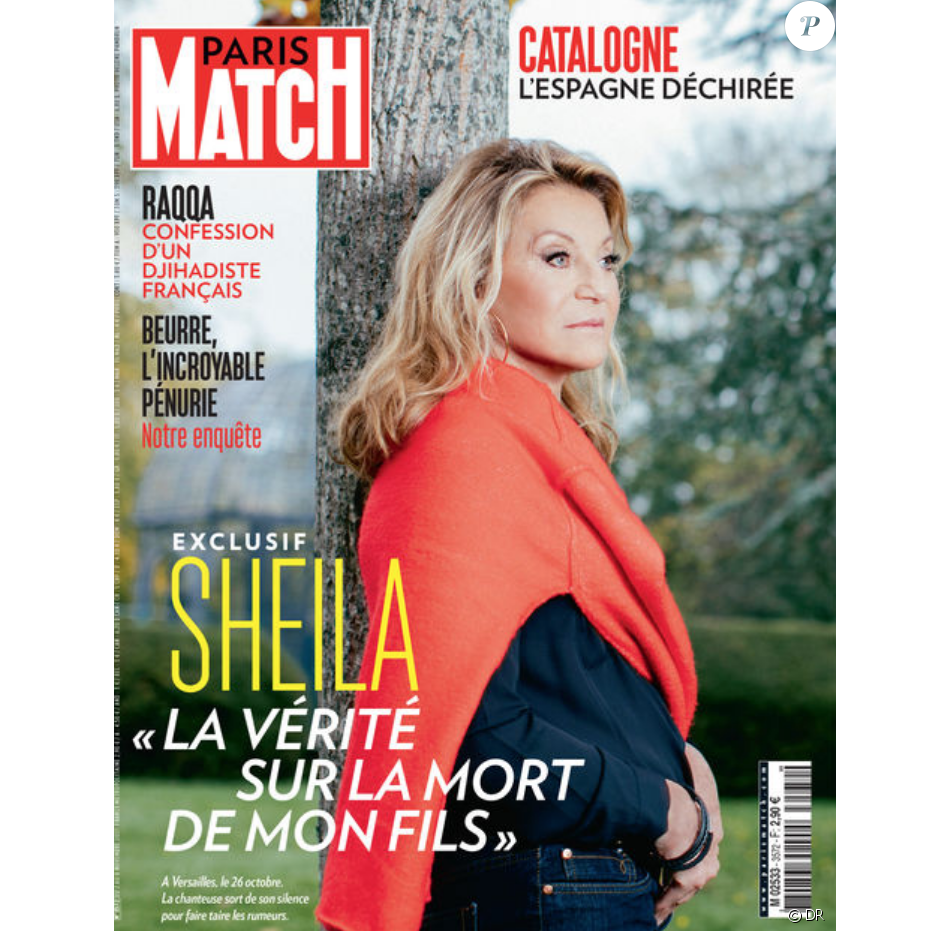 sheila en couverture de paris match en kiosques le 2 novembre 2017 purepeople. Black Bedroom Furniture Sets. Home Design Ideas