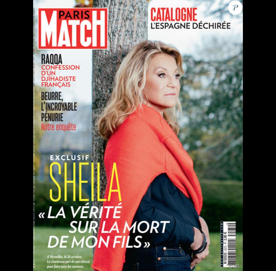 sheila en couverture de paris match en kiosques le 2 novembre 2017 purepeople. Black Bedroom Furniture Sets. Home Design Ideas