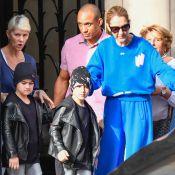 Céline Dion maléfique avec ses jumeaux Eddy et Nelson