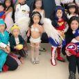 Terri Kwan, actrice taiwanaise, a déguisé sa fille de deux ans en Ange Victoria's Secret pour Halloween. Instagram, 31 octobre 2017.
