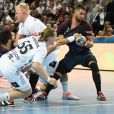 """Luka Karabatic lors du match Paris Saint-Germain - THW Kiel. Kiel, le 17 septembre 2017."""