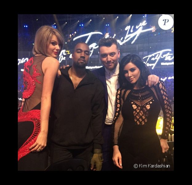 Taylor Swift, Kanye West, Sam Smith et Kim Kardashian aux Brit Awards en février 2015