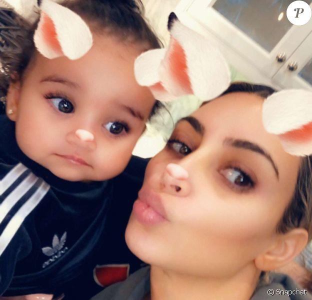 Kim Kardashian célèbre le 1er anniversaire de Dream, fille de Rob et Blac Chyna. Los Anglees le 10 novembre 2017.