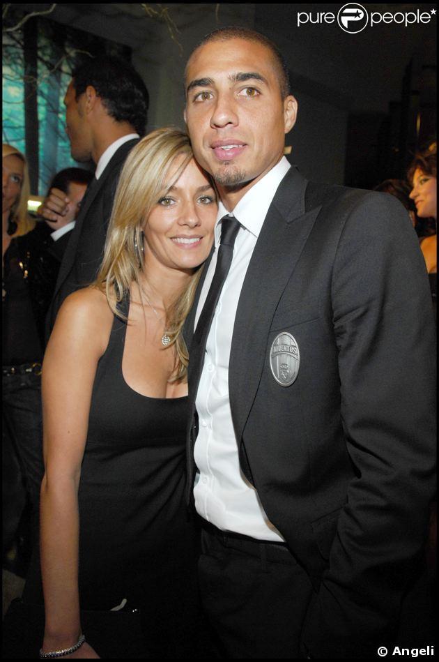 David Trezeguet et sa femme, Béatrice.