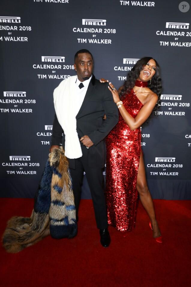 Diddy et Naomi Campbell - Soirée de lancement du Calendrier Pirelli 2018 au Manhattan Center. New York City, le 10 novembre 2017.