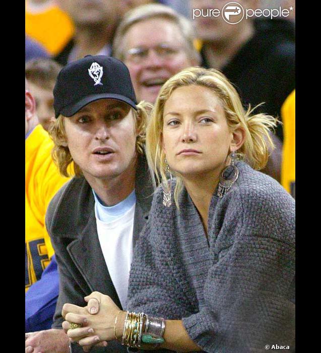 Kate Hudson et Owen Wilson assistent à un match de Basket en mai 2007