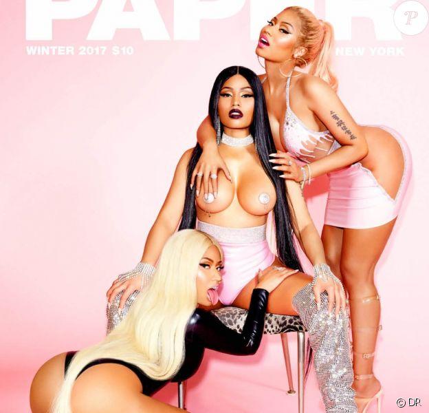 Nicki Minaj en couverture du magazine PAPER. Photo par Ellen Von Unwerth.