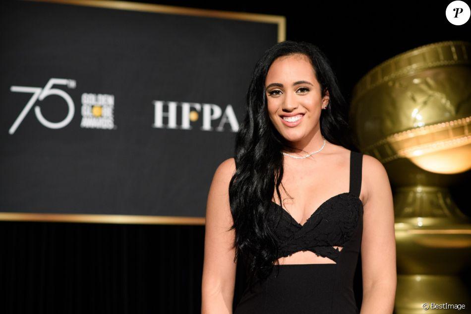Simone Garcia Johnson (fille de Dwayne Johnson) est nommée ambassadrice des 75ème Golden Globe, par la HFPA (Hollywood Foreign Press Association) à Los Angeles, le 15 novembre 2017. © HFPA/Zuma Press/Bestimage