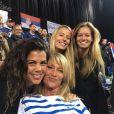 Julia Lang, compagne de Pierre-Hugues Herbert, soutient l'équipe de France de Coupe Davis contre la Russie. Instagram, le 16 septembre 2017.