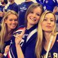 Julia Lang, compagne de Pierre-Hugues Herbert, soutient l'équipe de France de Coupe Davis. Instagram, le 9 avril 2017.