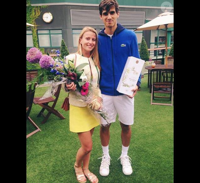 Pierre-Hugues Herbert et sa compagne Julia Lang sur Instagram, le 10 juillet 2016.