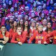 Stéphanie Tuccito (femme de David Goffin) - People lors du 4e match de la Finale de la coupe Davis en simple opposant la France à la Belgique remporté par D.Goffin (7-6 [5], 6-3, 6-2) au Stade Pierre Mauroy à Lille , le 26 novembre 2017. © Perusseau-Veeren/Bestimage