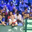Noura El Shwekh (compagne de Jo Wilfried Tsonga) et Didier Tsonga (père de Jo Wilfried Tsonga) - People lors du 4ème match de la Finale de la coupe Davis en simple opposant la France à la Belgique remporté par D.Goffin (7-6 [5], 6-3, 6-2) au Stade Pierre Mauroy à Lille , le 26 novembre 2017. © Perusseau-Veeren/Bestimage