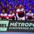 L'équipe de Francelors de la finale de la Coupe Davis, France vs Belgique, au stade Pierre Mauroy de Villeneuve-d'Ascq, le 27 novembre 2017.