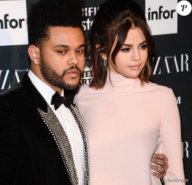 """Selena Gomez et The Weeknd lors de la soirée """"ICONS By C. Roitfeld"""" à New York le 8 septembre 2017."""
