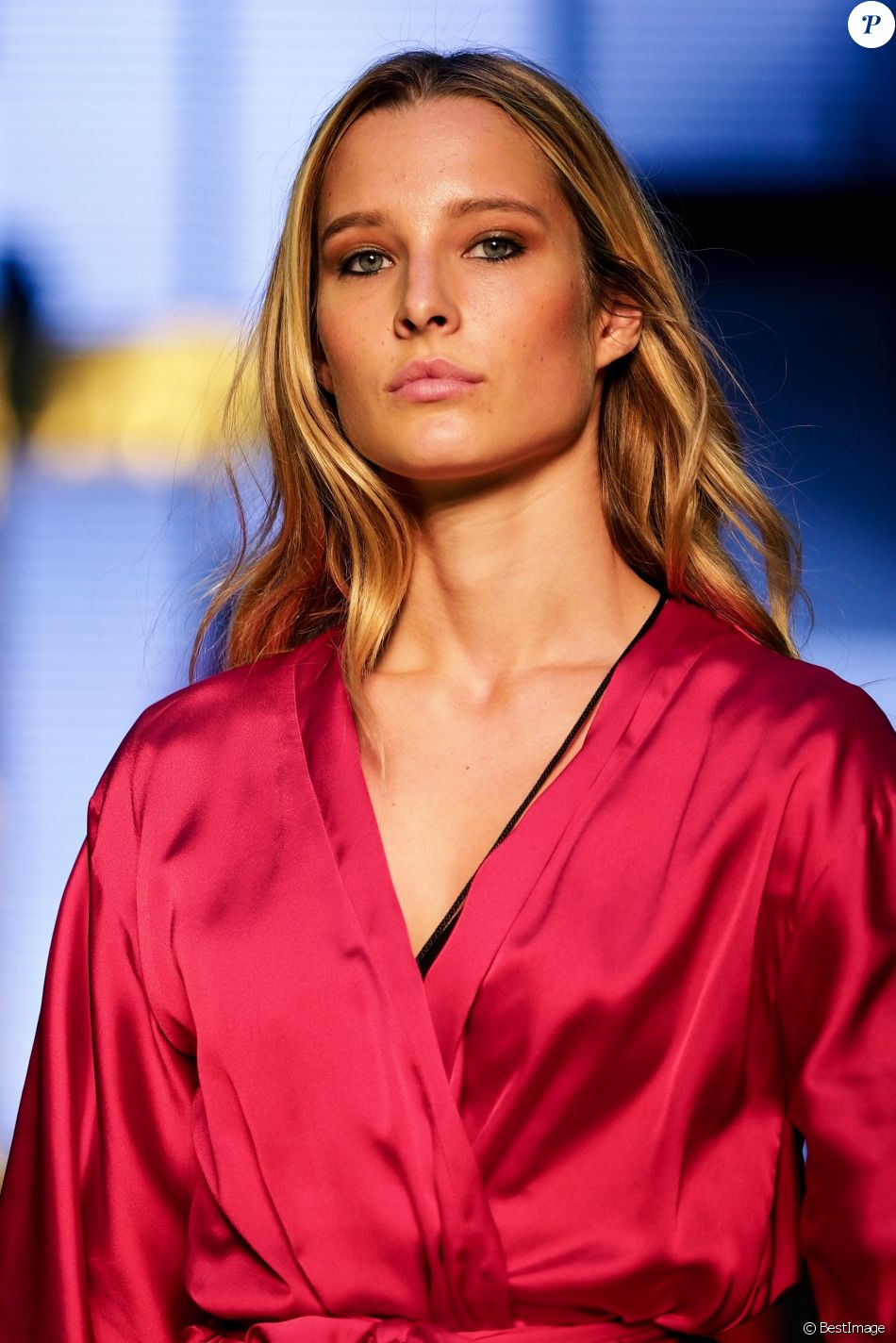 "Ilona Smet en coulisses - 10e édition du ""Etam Live Show"" (Etam Lingerie) lors de la Fashion Week à Paris, France, le 26 septembre 2017. Rachid Bellak/Bestimage"