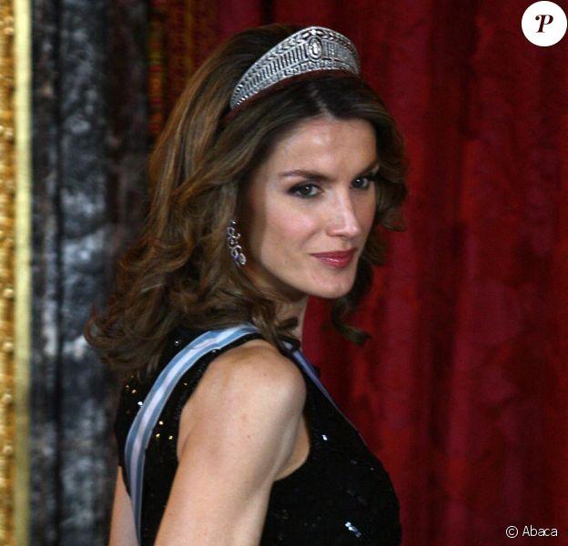 La princesse Letizia resplendissante le 2 mars au Palais Royal