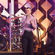 """Sam Smith - Concert """"KIIS-FM Jingle Ball"""" au Forum, à Inglewood. Los Angeles, le 1er décembre 2017."""