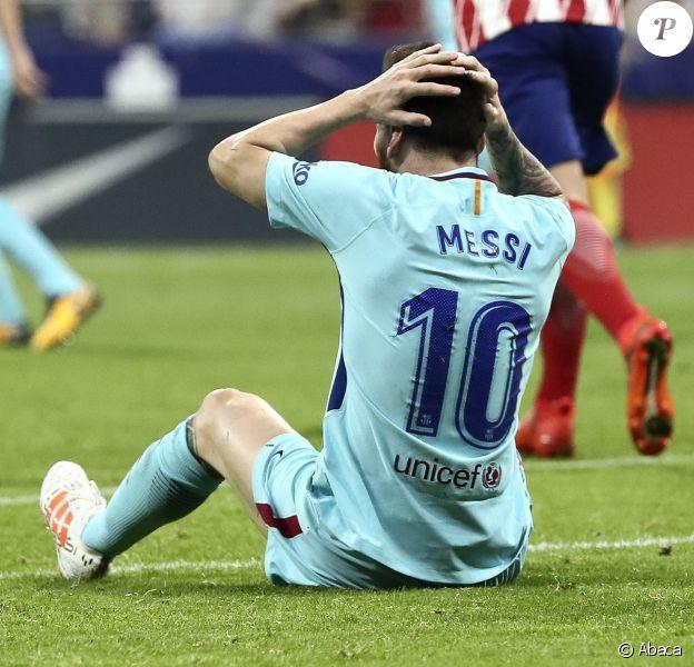 Lionel Messi lors du match Atlético Madrid - FC Barcelone. Madrid, le 14 octobre 2017.