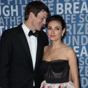 Mila Kunis et Ashton Kutcher, in love et radieux pour un (très) rare tapis rouge