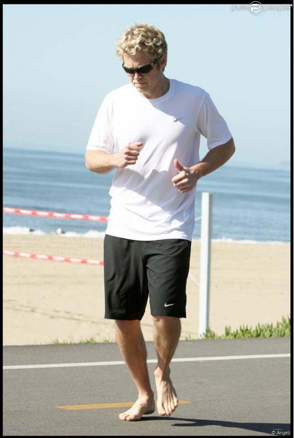 spencer pratt en pleine s 233 ance de sport sur la plage de malibu le 18 f 233 vrier 2009 il a du