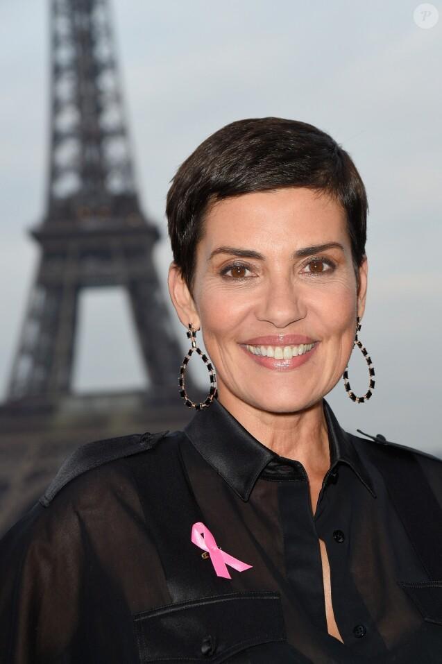 Cristina Cordula (ambassadrice 2017 d'Octobre Rose) lors de la soirée de lancement du mois d'Octobre Rose (la 24ème campagne) avec la remise des Prix Ruban Rose et l'illumination de la Tour Eiffel en rose, à Paris, France, le 27 septembre 2017. © Coadic Guirec/Bestimage