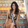 Miss Midi-Pyrénées en maillot de bain lors du voyage Miss France 2018 en Californie, en novembre 2017.