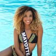 Miss Mayotte en maillot de bain lors du voyage Miss France 2018 en Californie, en novembre 2017.