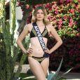 Miss Auvergne en maillot de bain lors du voyage Miss France 2018 en Californie, en novembre 2017.