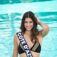 Miss Côte d'Azur en maillot de bain lors du voyage Miss France 2018 en Californie, en novembre 2017.