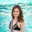 Miss Saint-Pierre et Miquelon en maillot de bain lors du voyage Miss France 2018 en Californie, en novembre 2017.