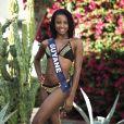 Miss Guyane en maillot de bain lors du voyage Miss France 2018 en Californie, en novembre 2017.