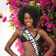 Miss Martinique en maillot de bain lors du voyage Miss France 2018 en Californie, en novembre 2017.