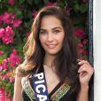 Miss Picardie en maillot de bain lors du voyage Miss France 2018 en Californie, en novembre 2017.