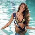 Miss Corse en maillot de bain lors du voyage Miss France 2018 en Californie, en novembre 2017.