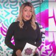 """Ayem Nour blonde sur le plateau du """"Mad Mag"""" sur NRJ12. Le 4 septembre 2017."""