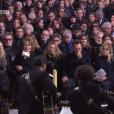 Le clan Hallyday aux obsèques de Johnny Hallyday à Paris. Le 9 décembre 2017.