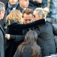 David Hallyday, Laura Smet, Laeticia Hallyday et ses filles Jade et Joy devant l'église de la Madeleine pour les obsèques de Johnny Hallyday à Paris, France, le 9 décembre 2017. © Veeren/Bestimage