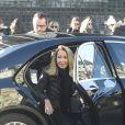 Nicole Coullier - Arrivées des personnalités en l'église de La Madeleine pour les obsèques de Johnny Hallyday à Paris le 9 décembre 2017. © Coadic Guirec / Bestimage