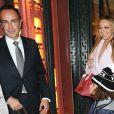 Mariah Carey avec son compagnon Bryan Tanaka et son fils Moroccan quittent l'hôtel Plaza Athénée pour aller faire du shopping chez Hermès et à la boutique Disney. Ils iront dîner ensuite à l'hôtel Royal Monceau. Paris le 8 décembre 2017.