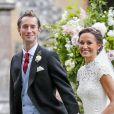 Pippa Middleton et James Matthews, mariés en mai 2017 après un an de relation. Le couple s'était déjà fréquenté entre 2012 et 2013. Ici lors des noces en l'église St Mark's, à Englefield, Berkshire, le 20 mai 2017.