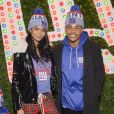 Chanel Iman et son fiancé Sterling Shepard assistent au lancement de la nouvelle collection 'New Era' au magasin Macy's Herald Square à New York, le 12 décembre 2017.