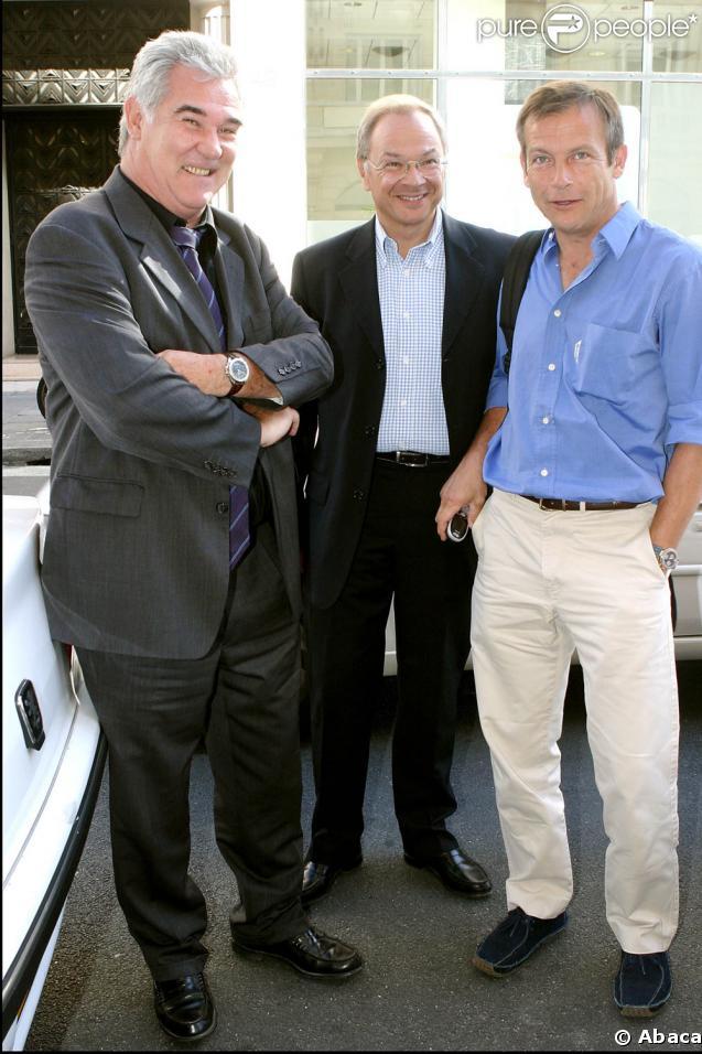 Laurent Bignolas, ici avec Georges Pernoud et Philippe Vilamitjana.