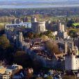 Vue aérienne du château de Windsor, le 30 novembre 2017, où le prince Harry et Meghan Markle célébreront leur mariage en mai 2018.