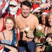 Christian Estrosi, maire solidaire, se jette à l'eau pour le bain de Noël