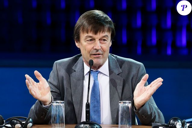 Nicolas Hulot, ministre de la Transition écologique et solidaire - One Planet Summit - table ronde : Comment permettre aux villes et aux territoires d'atteindre leurs ambitions et de contribuer activement à la mise en oeuvre de l'Accord de Paris ? à la Scène musicale, Ile Seguin, Paris, France, le 12 décembre 2017. © Stéphane Lemouton / Bestimage
