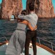 Alia et Ali plus amoureux que jamais. Ils ne cessent de voyager ensemble. Ici ils étaient à Capris en Italie. Octobre 2017.