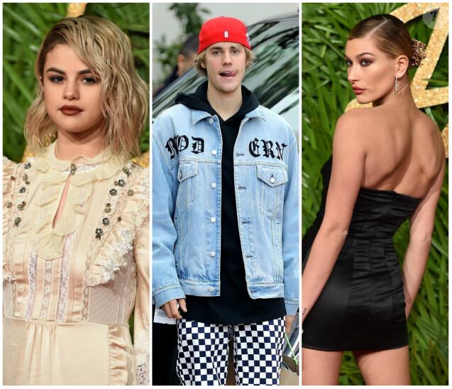 Selena Gomez, Justin Bieber et Hailey Baldwin.